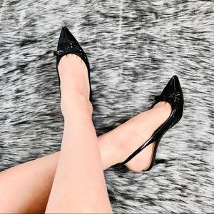 KATE SPADE⚡️Bow Patent Leather Slingback Heels_6M